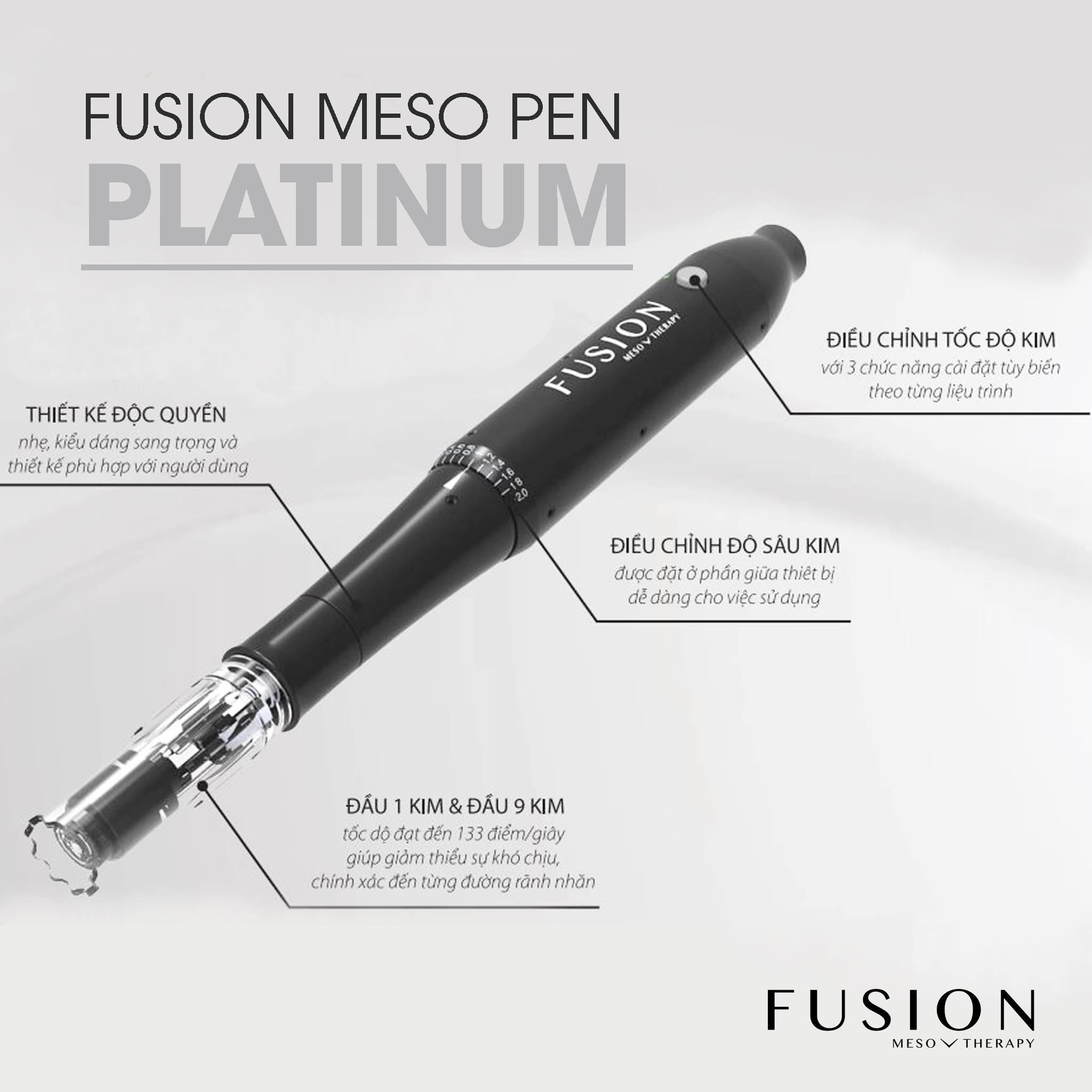 Bút lăn kim Fusion Meso – Thiết bị làm đẹp không thể thiếu của spa