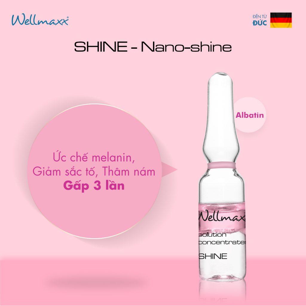 Shine - Nano Shine ức chế Melanin, giảm sắc tố, thâm nám gấp 3 lần