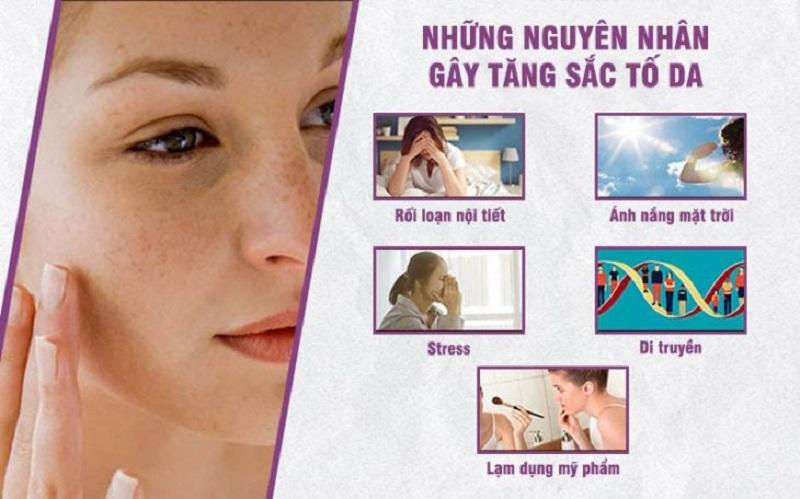 nguyên nhân gây tăng sắc tố da