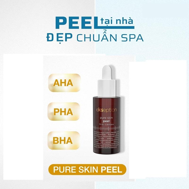 Công dụng thần kỳ của Peel Pure Skin đối với da mụn